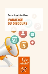 Francine Mazière - L'analyse du discours.