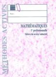 Francine Zimmermann et Yves Verdier - Mathématiques 1ère professionnelle secteur industriel.