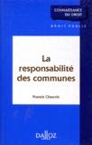 Francis Chauvin - La responsabilité des communes.