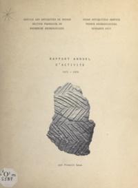 Francis Geus et Mohammed Sherif Negm-ed-Din - Rapport annuel d'activité 1975-1976.