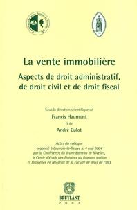 Ucareoutplacement.be La vente immobilière - Aspects de droit administratif, de droit civil et de droit fiscal Image