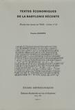 Francis Joannès - Textes économiques de la Babylonie récente - Etude des textes de TBER, cahier n°6.