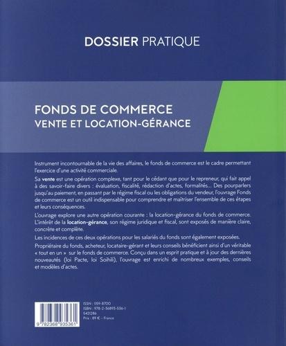Fonds de commerce. Vente et location-gérance, Guide juridique et fiscal 6e édition