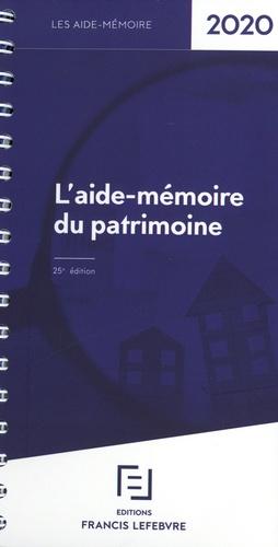 L'aide-mémoire du patrimoine  Edition 2020