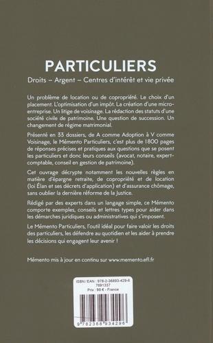 Particuliers. Droits, argent, centres d'intérêt et vie privée  Edition 2020