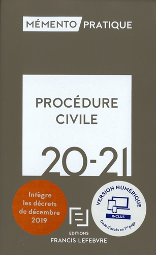 Procédure civile  Edition 2020-2021