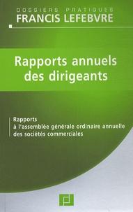 Rapports annuels des dirigeants - Rapports à lassemblée générale ordinaire annuelle des sociétés commerciales.pdf