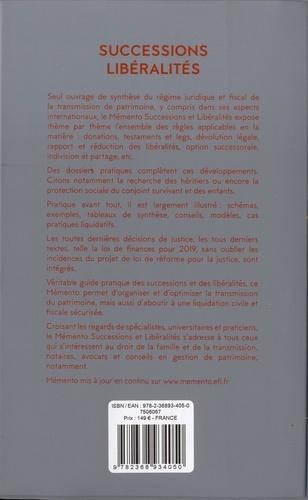 Successions et libéralités  Edition 2019
