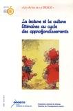 Francis Marcoin et Annie Rouxel - La lecture et la culture litteraires au cycle des approfondissements - Acte de l'université d'automne Clermont-Ferrand - Royat, 28 au 31 octobre 2002.