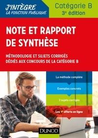 Note et rapport de synthèse - Méthodologie et sujets corrigés dédiés aux concours de la catégorie B.pdf