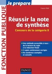 Accentsonline.fr Réussir la note de synthèse - Catégorie B Image
