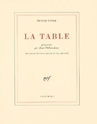 Francis Ponge - La table.
