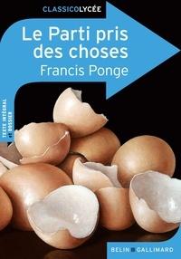 Francis Ponge - Le Parti pris des choses.