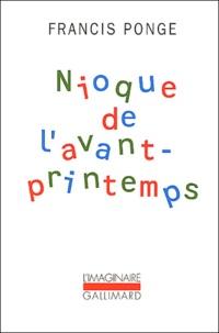 Francis Ponge - Nioque de l'avant-printemps.
