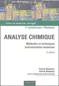 Francis Rouessac et Annick Rouessac - Analyse chimique - Méthodes et techniques instrumentales modernes, Cours et exercices corrigés.