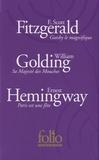 Francis Scott Fitzgerald et William Golding - Coffret Folio anniversaire - Gatsby le magnifique ; Sa majesté des Mouches ; Paris est une fête.