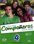 Francisca Castro et Ignacio Rodero - Nueva edicion Companeros 4 Curso de espanol B1.2 - Libro del alumno.