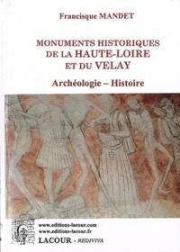 Francisque Mandet - Monuments historiques de la Haute-Loire et du Velay.