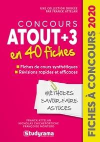 Franck Attelan - Concours Passerelle Bachelor - 40 fiches méthodes, savoir-faire et astuces.