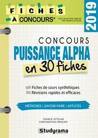 Concours puissance alpha en 30 fiches - Franck Attelan pdf epub
