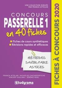 Franck Attelan et Nicholas Chicheportiche - Coucours Passerelle 1 - 40 fiches méthodes, savoir-faire et astuces.