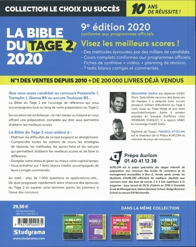 La bible du Tage 2  Edition 2020