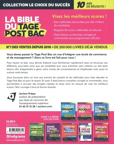 La bible du TAGE Post-Bac