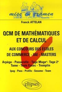 Les QCM de mathématiques et de calcul - Aux concours dentrée des écoles de commerce, masters-IAE-masters.pdf