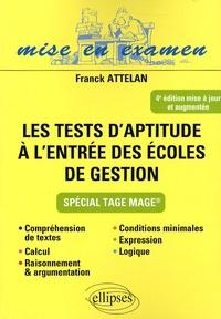 Les tests daptitude à lentrée des écoles de gestion - Spécial Tage Mage.pdf