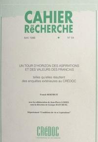 Franck Berthuit et Georges Hatchuel - Un tour d'horizon des aspirations et des valeurs des Français, telles qu'elles résultent des enquêtes extérieures au CREDOC.
