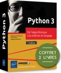 Franck Ebel et Sébastien Chazallet - Python 3. De l'algorithmique à la maîtrise du langage - Coffret en 2 volumes : Python 3, les fondamentaux du langage ; Algorithmique.