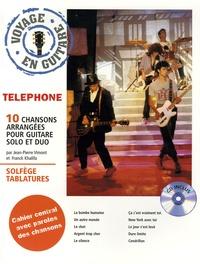 Franck Khalifa et Jean-Pierre Vimont - Téléphone - Voyage en guitare, 10 chansons arrangées pour guitare solo et duo. 1 CD audio
