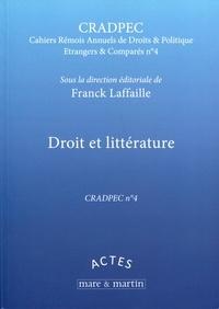 Franck Laffaille - Droit et littérature.