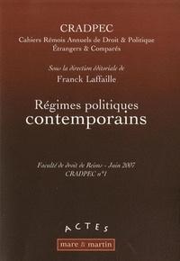 Franck Laffaille - Régimes politiques contemporains.