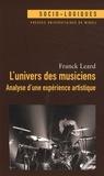 Franck Leard - L'univers des musiciens - Analyse d'une expérience artistique.