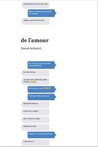 Franck Leibovici - De l'amour.