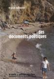 Franck Leibovici - Des documents poétiques.