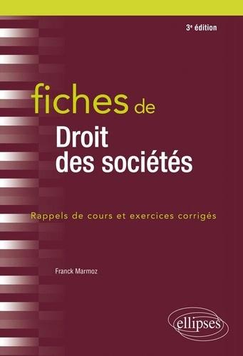 Franck Marmoz - Fiches de droit des sociétés.
