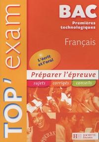 Franck Mazzucchelli - Top'Exam Français Bac Technologique.