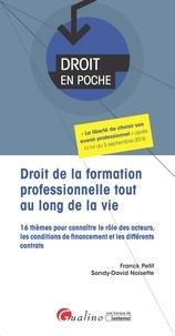 Franck Petit et Sandy-David Noisette - Droit de la formation professionnelle tout au long de la vie - 16 thèmes pour connaître le rôle des acteurs, les conditions de financement et les différents contrats.