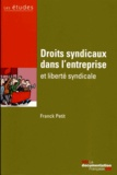 Franck Petit et  La Documentation Française - Droits syndicaux dans l'entreprise et liberté syndicale.