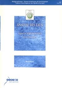 Franck Rejsek - Analyse des eaux - Aspects réglementaires et techniques.