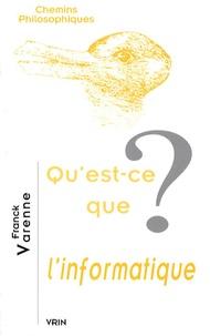Franck Varenne - Qu'est-ce que l'informatique ?.