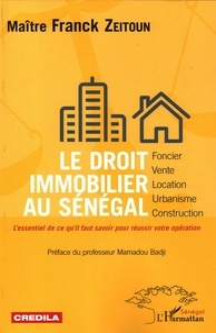 Franck Zeitoun - Le droit immobilier au Sénégal.