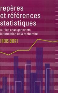 François Ancel et Joël Bouvier - Répères et références statistiques sur les enseignements, la formation et la recherche.