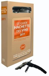 François Bachelot - Le guide Hachette des vins - Coffret avec un livre et un couteau de sommelier.
