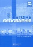 François Barrié et Maurice Brogini - Histoire-Géographie 1e Bac pro - Livre du professeur.