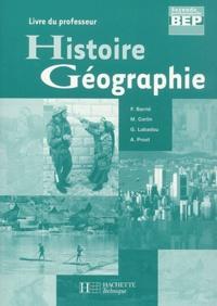 François Barrié et Michel Corlin - Histoire Géographie BEP 2nde professionnelle - Livre du professeur.