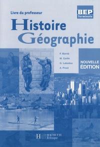 François Barrié et Michel Corlin - Histoire-Géographie Tle BEP - Livre du professeur.