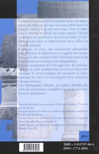 Les inscriptions de l'Ain (ILAin)